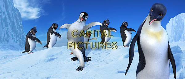 Mumble (voiced by ELIJAH WOOD), Gloria (voiced by BRITTANY MURPHY) & Ramon (voiced by ROBIN WILLIAMS).in Happy Feet.*Editorial Use Only*.Ref: FB.www.capitalpictures.com.sales@capitalpictures.com.Supplied by Capital Pictures.