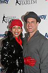 Tamara Tunie poses with costar Christopher Meloni (Law & Order SVU)  at the 2009 Skating with the Stars - a benefit gala for Figure Skating in Harlem on April 6, 2009 at Wollman Rink, Central Park, NYC, NY. (Photo by  Sue Coflin/Max Photos)