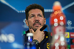 Atletico de Madrid's coach Diego Pablo Cholo Simeone during the official press conference  before the Champions League match between Atletico de Madrid and PSV Eindhoven at Vicente Calderon Stadium in Madrid , Spain. November 22, 2016. (ALTERPHOTOS/Rodrigo Jimenez)