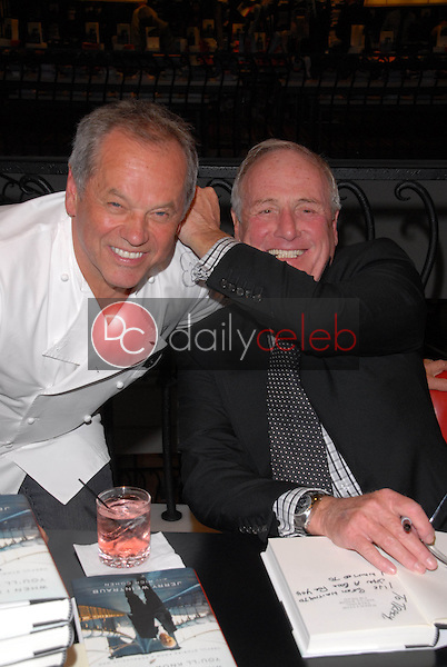 """Wolfgang Puck and Jerry Weintraub<br /> at a celebration of Jerry Weintraub's New Book """"When I Stop Talking You'll Know I'm Dead,"""" Barney's New  York, Beverly Hills, CA. 05-18-10<br /> David Edwards/Dailyceleb.com 818-249-4998"""