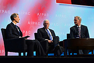 Washington, DC - March 5, 2018: U.S. Reps. Steny Hoyer and Kevin McCarthy speak during the 2018 American Israel Public Affairs Committee (AIPAC) Policy Conference at the Washington Convention Center March 5, 2018.  (Photo by Don Baxter/Media Images International)