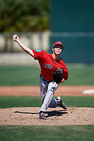 Boston Red Sox pitcher Durin O'Linger (78) during a Minor League Spring Training game against the Baltimore Orioles on March 17, 2018 at the jetBlue Park Complex in Fort Myers, Florida.  (Mike Janes/Four Seam Images)