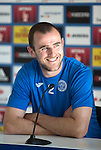 FC Luzern v St Johnstone...16.07.14  Europa League 2nd Round Qualifier<br /> Captain Dave Mackay during his press conference ahead of tomorrow's game against FC Luzern<br /> Picture by Graeme Hart.<br /> Copyright Perthshire Picture Agency<br /> Tel: 01738 623350  Mobile: 07990 594431