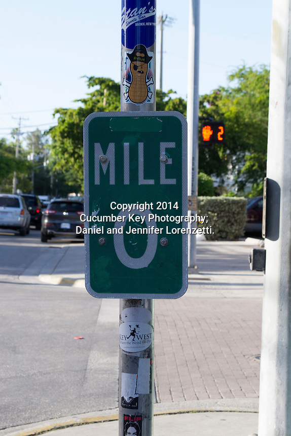 The mile marker 0 sign has become an iconic representation of Key West.  It marks the official beginning (and end) of U.S. Route 1.