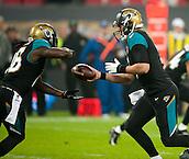 09.11.2014.  London, England.  NFL International Series. Jacksonville Jaguars versus Dallas Cowboys. Jaguars' Blake Bortles (#5) in action.