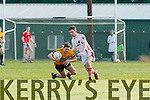TJ Friel  Rathmore tackles David Sheehy Listowel Emmets during their Division 2 clash in Rathmore on Sunday