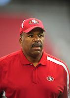 Sept. 13, 2009; Glendale, AZ, USA; San Francisco 49ers coach Al Harris against the Arizona Cardinals at University of Phoenix Stadium. San Francisco defeated Arizona 20-16. Mandatory Credit: Mark J. Rebilas-