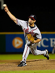 15 September 2007: Atlanta Braves pitcher Buddy Carlyle on the mound against the Washington Nationals at Robert F. Kennedy Memorial Stadium in Washington, DC. The Nationals defeated the Braves 7-4 in the second game of their 3-game series...Mandatory Photo Credit: Ed Wolfstein Photo