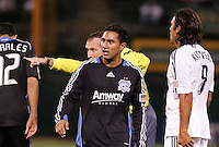Arturo Alvarez. San Jose Earthquakes tied Los Angeles Galaxy 1-1 at the McAfee Colisum in Oakland, California on April 18, 2009.