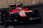 Max Chilton of Great Britain and Marussia Racing drives during the Abu Dhabi Formula One Grand Prix 2013 at the Yas Marina Circuit on November 3, 2013 in Abu Dhabi, United Arab Emirates. Photo by Victor Fraile / The Power of Sport Images