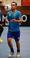 20191010 - HALLE: Halle-Gooik's Tiago Carpes  is pictured during the warm up before the UEFA Futsal Champions League Main Round match between FP Halle-Gooik (BEL) and Kherson (UKR) on1 0th October 2019 at De Bres Sportcomplex, Halle, Belgium. PHOTO SPORTPIX | SEVIL OKTEM