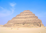 The Step Pyramid of Djoser at the Egyptian burial ground of Sakkara near Cairo, Egypt.