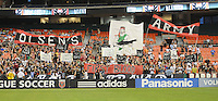 Banners supporting Ben Olsen as a new Head Coach.  FC. Dallas defeated DC United 3-1 at RFK Stadium, Saturday August 14, 2010.