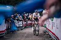 Sergio Henao (COL/SKY) up the infamous Monte Zoncolan (1735m/11%/10km)<br /> <br /> stage 14 San Vito al Tagliamento &ndash; Monte Zoncolan (186 km)<br /> 101th Giro d'Italia 2018