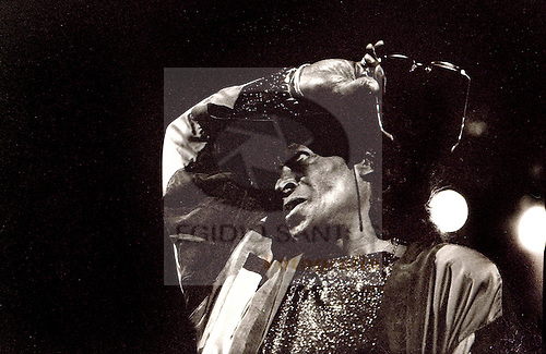 Miles Davis, jazz musician, playing at Coliseu do Porto, in 1991.