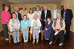 Nuala Early (front centre) pictured with Eithne Doggett, Pat Smith, Chris Doggett, Pauline Connor, Christy Dunne, Willie Woods, Eamon McCarthy, Pat Shields, Rita Maher, Maeve Healy,  Anna Lennon and Paddy Cluskey at her party in the Boyne Valley hotel to celebrate retirement from the Drogheda Senior Citizens Interests group. Photo: www.colinbellphotos.com