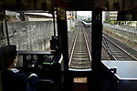 JR train operator cabin, railway transportation, Kyoto, Japan 2017