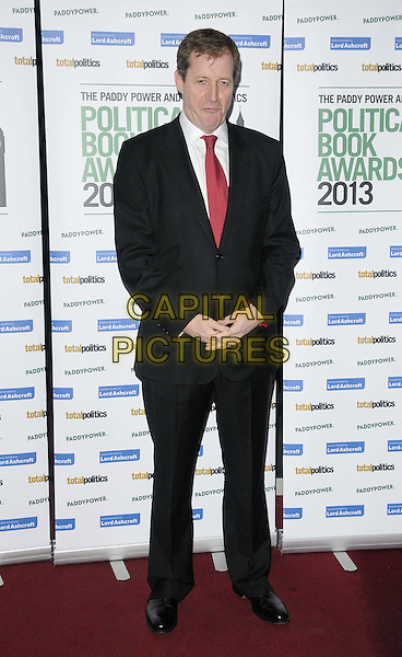 Alastair Campbell.The Paddy Power & Total Politics Political Book Awards 2013, BFI Imax, Charlie Chaplin Walk, London, England..February 6th, 2013.full length black suit red tie white shirt .CAP/CAN.©Can Nguyen/Capital Pictures.