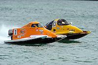 26  July, 2009, Trenton, Michigan USA.Rob Rinker (#1) and Milo Degugas (#83).©2009 F.Peirce Williams USA.SST-45 class