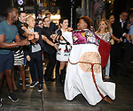 Justin Prescott,  Jane Wiedlin, Kathy Valentine and Charlotte Caffey during the Broadway Opening Night Performance Actors' Equity Legacy Robe honoring Justin Prescott at the Hudson Theatre on July 26, 2018 in New York City.