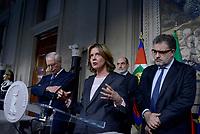 Roma, 4 Aprile 2018<br /> Gugielmo Epifani,  Federico Fornaro, Beatrice Lorenzin.<br /> Primo giorno di Consultazioni per la formazione del Governo