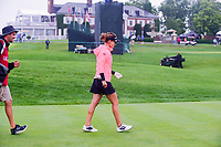 Belen Mozo (ESP) departs the first tee during Friday's second round of the 72nd U.S. Women's Open Championship, at Trump National Golf Club, Bedminster, New Jersey. 7/14/2017.<br /> Picture: Golffile | Ken Murray<br /> <br /> <br /> All photo usage must carry mandatory copyright credit (&copy; Golffile | Ken Murray)