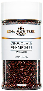 10518 Chocolate Vermicelli, Small Jar 2.5 oz, India Tree Storefront