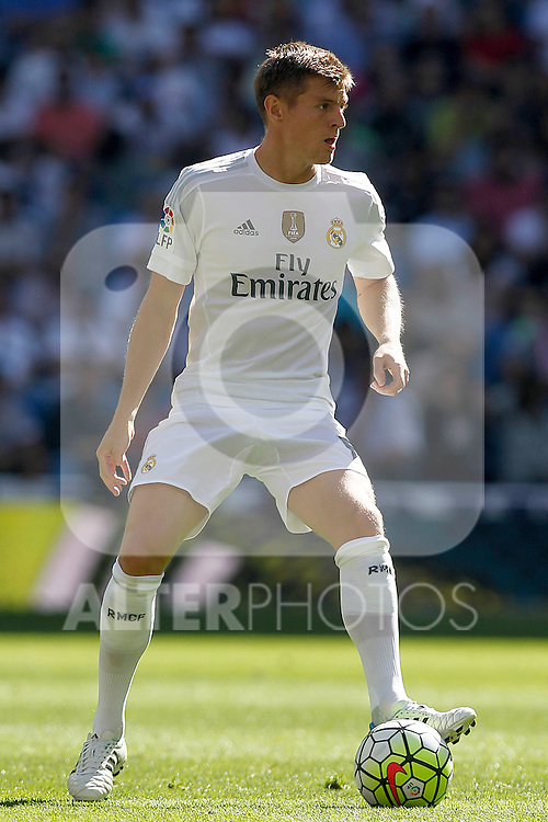 Real Madrid's Toni Kroos during La Liga match. September 19,2015. (ALTERPHOTOS/Acero)