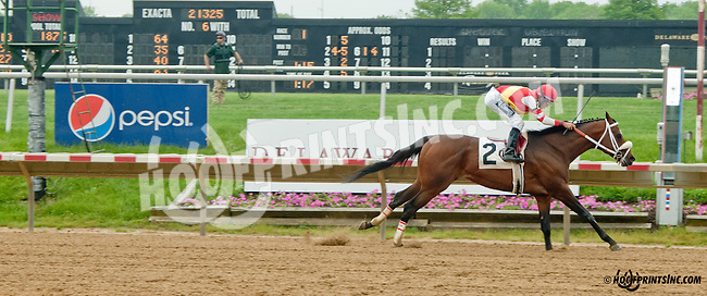 Pure Innocence winning at Delaware Park on 5/20/13