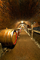 Kovacs wine cellars' wine barrels and bottles  ( Kovács Borház ) Hajos ( Hajós); Hungary;