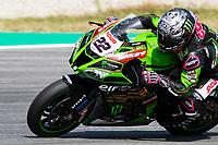 8th July 2020; Circuit de Barcelona Catalunya, Barcelona, Spain; FIM Superbike World Championship tests;  Day One; Alex Lowes of the Kawasaki Racing Team Worldsbk rides the Kawasaki ZX 10RR