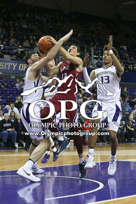 SEATTLE, WA - DECEMBER 17: Loyola Marymount's Steven Haney against Washington.  Washington won 75-63 over Loyola Marymount at Alaska Airlines Arena in Seattle, WA.