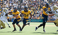 Shane Vereen carries the ball. The California Golden Bears defeated the UCLA Bruins 35-7 at Memorial Stadium in Berkeley, California on October 9th, 2010.