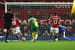 Norwich's Alexander Tettey scores his sides second goal - Manchester United vs Norwich City - Barclays Premier League - Old Trafford - Manchester - 19/12/2015 Pic Philip Oldham/SportImage
