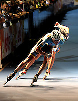 OOSTENDE – BELGICA – 23-08-2013: Bart Swings de Belgica duante la prueba de los 10000 metros combinada mayores varones en el patinodromo Mundialista Track en Oostende,  Belgica, agosto 23 de 2013. (Foto: VizzorImage / Luis Ramirez / Staff). Bart Swings of Belgium, during the testing of the 10000 meters combinate senior man´s  in the Mundialist Track in Oostende, Belgium, August 23, 2013. (Photo: VizzorImage / Luis Ramirez / Staff).