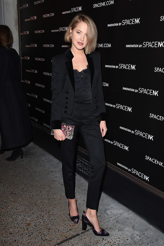 Tess Ward<br /> at the opening of the 'Innovation by Space NK' store on Regent's Street, London.<br /> <br /> <br /> ©Ash Knotek  D3196  10/11/2016