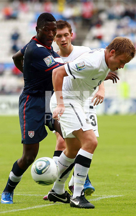 USA U-17 team played against New Zealand in the FIFA Under 17 World Cup game on June 25th, 2011, held in Pachuca, Mexico.