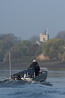Putney, London,  Tideway Week, Championship Course. River Thames, <br /> <br /> Tuesday  28/03/2017<br /> [Mandatory Credit; Credit: Peter Spurrier/Intersport Images.com ]<br />  <br /> <br /> Chief Coach, Ali WILLIAMS, coaching besides Chiswick Eyot,