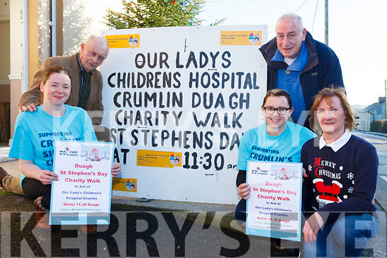 Dough locals are planning their annual Walk/Run on St Stephen's Day. Pictured were: John Joe O'Brien, Sam McElligott, Rose Costello, Bridget Murphy and Mike Carmody.