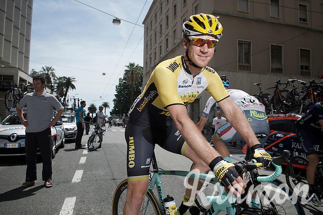 Rick Flens (NLD/LottoNL-Jumbo) to the start<br /> <br /> 2015 Giro<br /> stage 5: La Spezia - Abetone (152km)