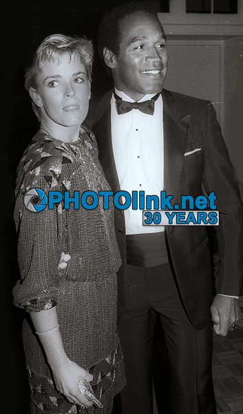 OJ Simpson Nicole Simpson circa 1980's<br /> Photo By Jesse Nash/PHOTOlink