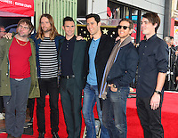Adam Levine &amp; Maroon 5 at the Hollywood Walk of Fame Star Ceremony honoring singer Adam Levine. Los Angeles, USA 10 February  2017<br /> Picture: Paul Smith/Featureflash/SilverHub 0208 004 5359 sales@silverhubmedia.com