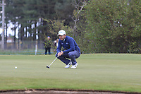 Richard Sterne (RSA) on the 3rd green during Round 2 of the Betfred British Masters 2019 at Hillside Golf Club, Southport, Lancashire, England. 10/05/19<br /> <br /> Picture: Thos Caffrey / Golffile<br /> <br /> All photos usage must carry mandatory copyright credit (&copy; Golffile | Thos Caffrey)