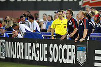 New England Revolution coaches Steve Nicol, Stephen Myles..Kansas City Wizards defeated New England Revolution 4-1 at Community America Ballpark, Kansas City, Kansas.