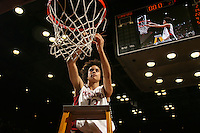 25 February 2007: Cissy Pierce during Stanford's 56-53 win over USC at Maples Pavilion in Stanford, CA.