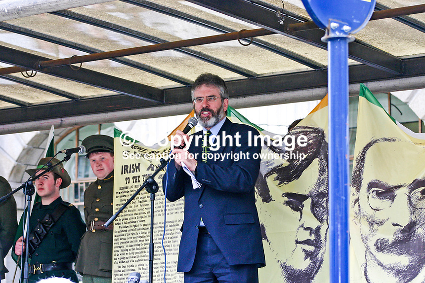 Gerry Adams, president, Provisional Sinn Fein, speaking at an event in O'Connell Street, Dublin, Rep of Ireland, on 16th April 2006, to mark the 90th Anniversary of the 1916 Easter Rising. 2006041601GA1..Copyright Image from Robert White c/o Victor Patterson, 54 Dorchester Park, Belfast, United Kingdom, UK...For my Terms and Conditions of Use go to http://www.victorpatterson.com/Victor_Patterson/Terms_%26_Conditions.html
