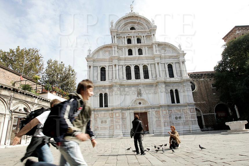 Veduta esterna della Chiesa di San Zaccaria a Venezia.<br /> Exterior view of the Church of San Zaccaria (St. Zacharias) in Venice.<br /> UPDATE IMAGES PRESS/Riccardo De Luca