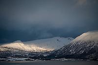 Isole Lofoten nella foto fiordo geografico Svolv&aelig;r 12/02/2016 foto Matteo Biatta<br /> <br /> Lofoten Islands in the picture fiord geographic Svolv&aelig;r 12/02/2016 photo by Matteo Biatta