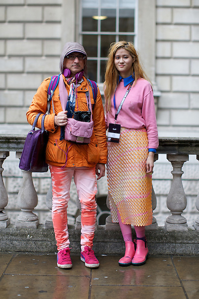 Haris Bakhsh  London Fashion Week Street Style at Somerset House