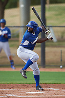 Los Angeles Dodgers Andrew Toles (49) during an instructional league game against the Cincinnati Reds on October 20, 2015 at Cameblack Ranch in Glendale, Arizona.  (Mike Janes/Four Seam Images)